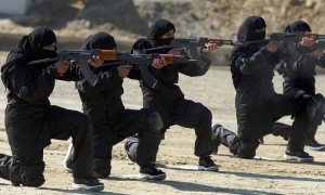 women training fight