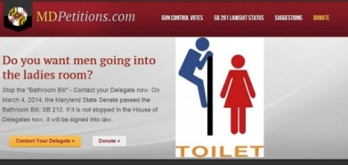 "A Maryland Group used a popular image to try to stop what it called a ""Bathroom Bill."""
